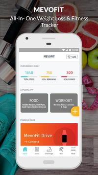 Lose Weight Fast: Healthy Diet & Workouts: MevoFit الملصق