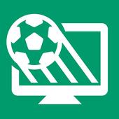 Fußball im TV Zeichen