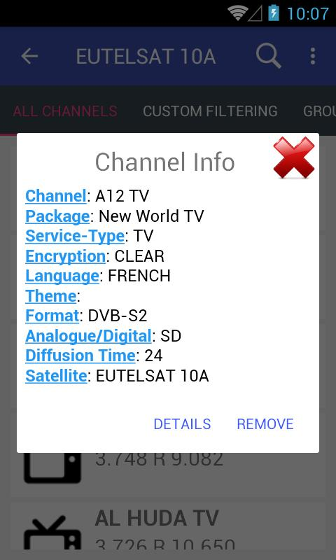 Eutelsat Frequency List for Android - APK Download