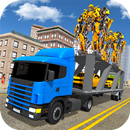 Robot Car Transport Transform Truck Game Simulator APK