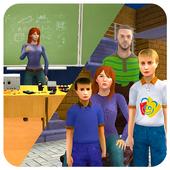 Virtual Mom School Teacher Life Simulator icon
