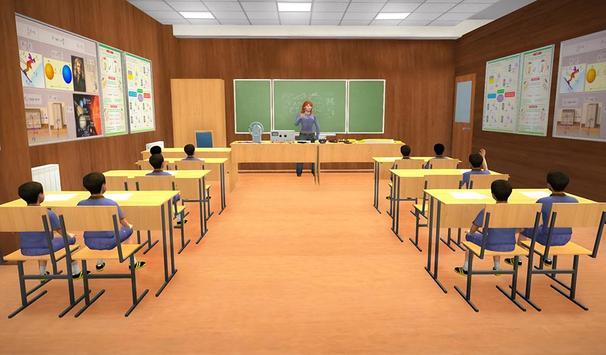 Virtual Mom School Teacher Life Simulator poster