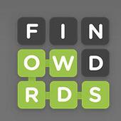 Word fishing icon