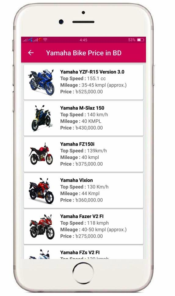 Bike price in Bangladesh for Android - APK Download