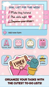 Cute Sticky Notes Widget poster