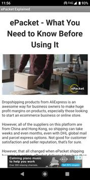 Dropshipping with ePacket Explained poster