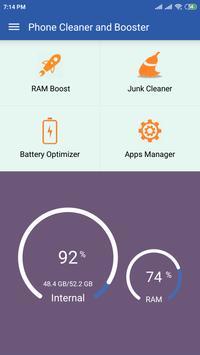 Speed Booster - Phone Cleaner screenshot 1
