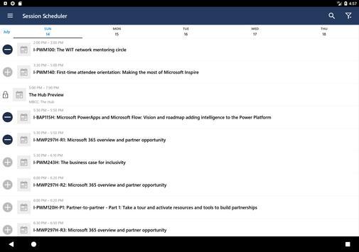 Microsoft Events screenshot 7