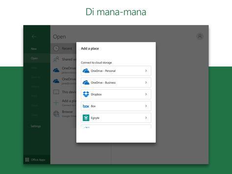 Microsoft Excel: Lihat, Edit & Cipta Hamparan syot layar 8