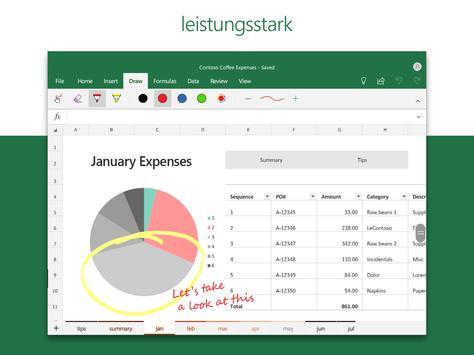 Microsoft Excel: Tabellen anzeigen und erstellen Screenshot 11