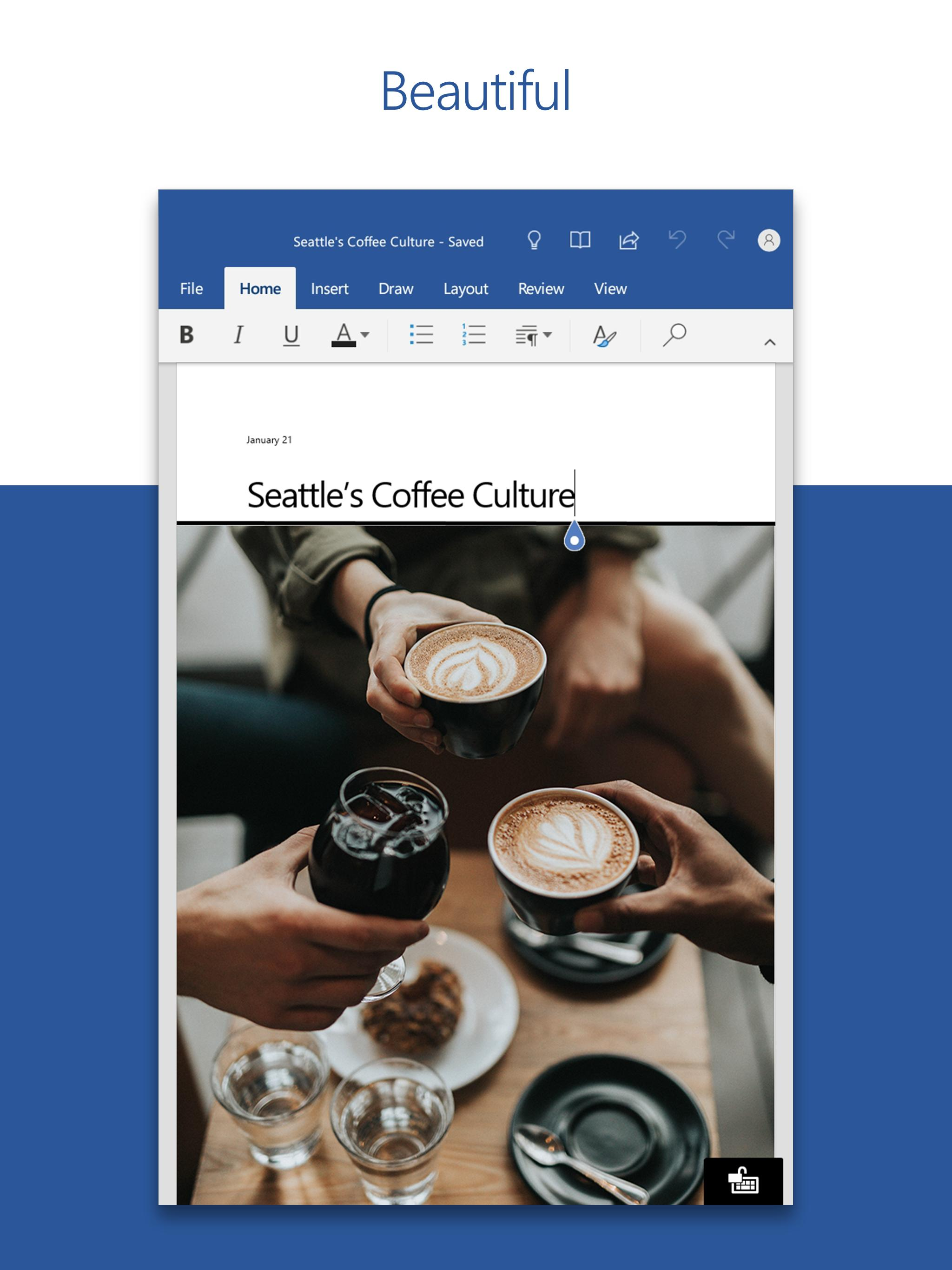 Microsoft Word: Write, Edit & Share Docs on the Go poster