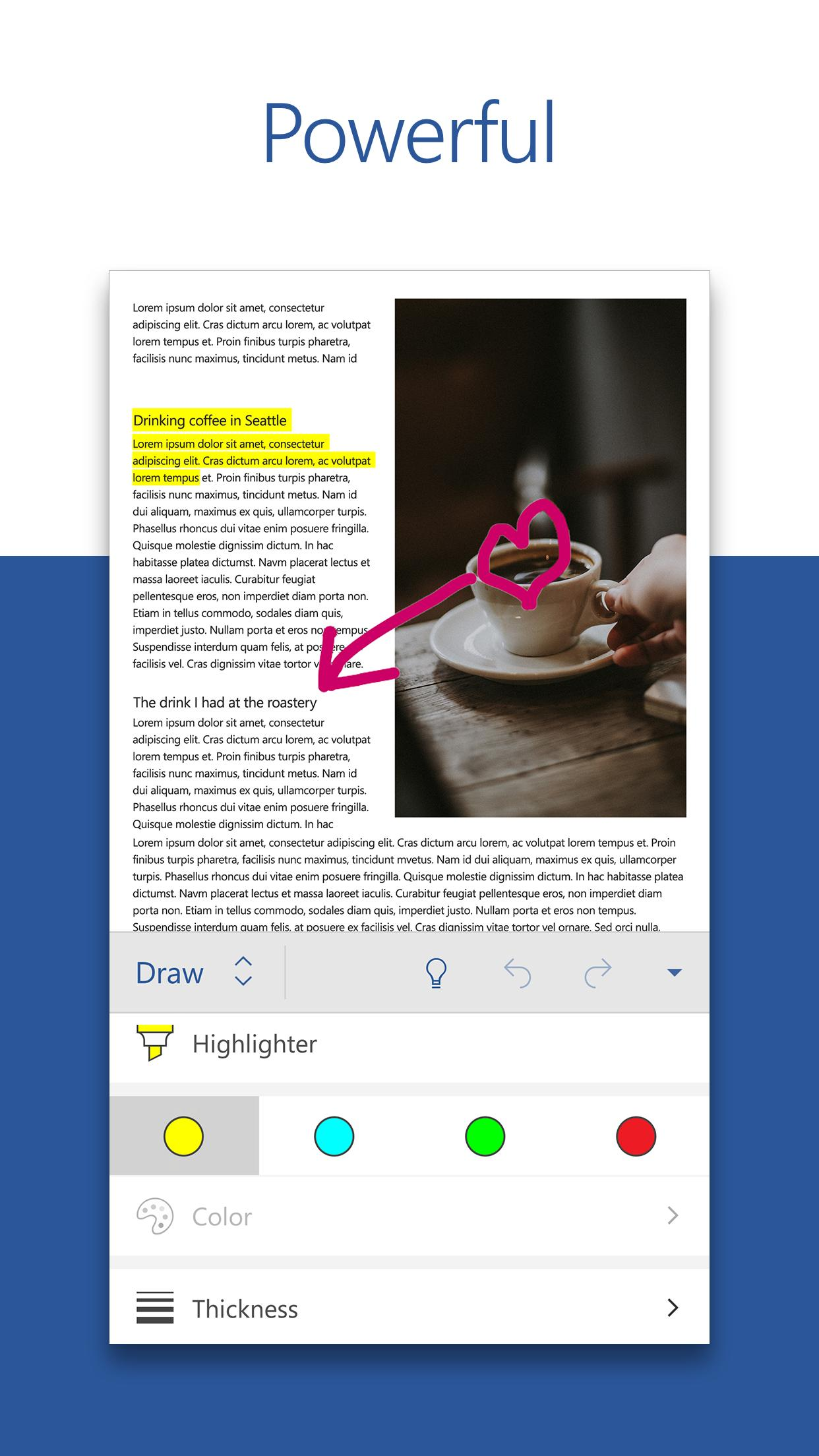 Microsoft Word: Write, Edit & Share Docs on the Go for