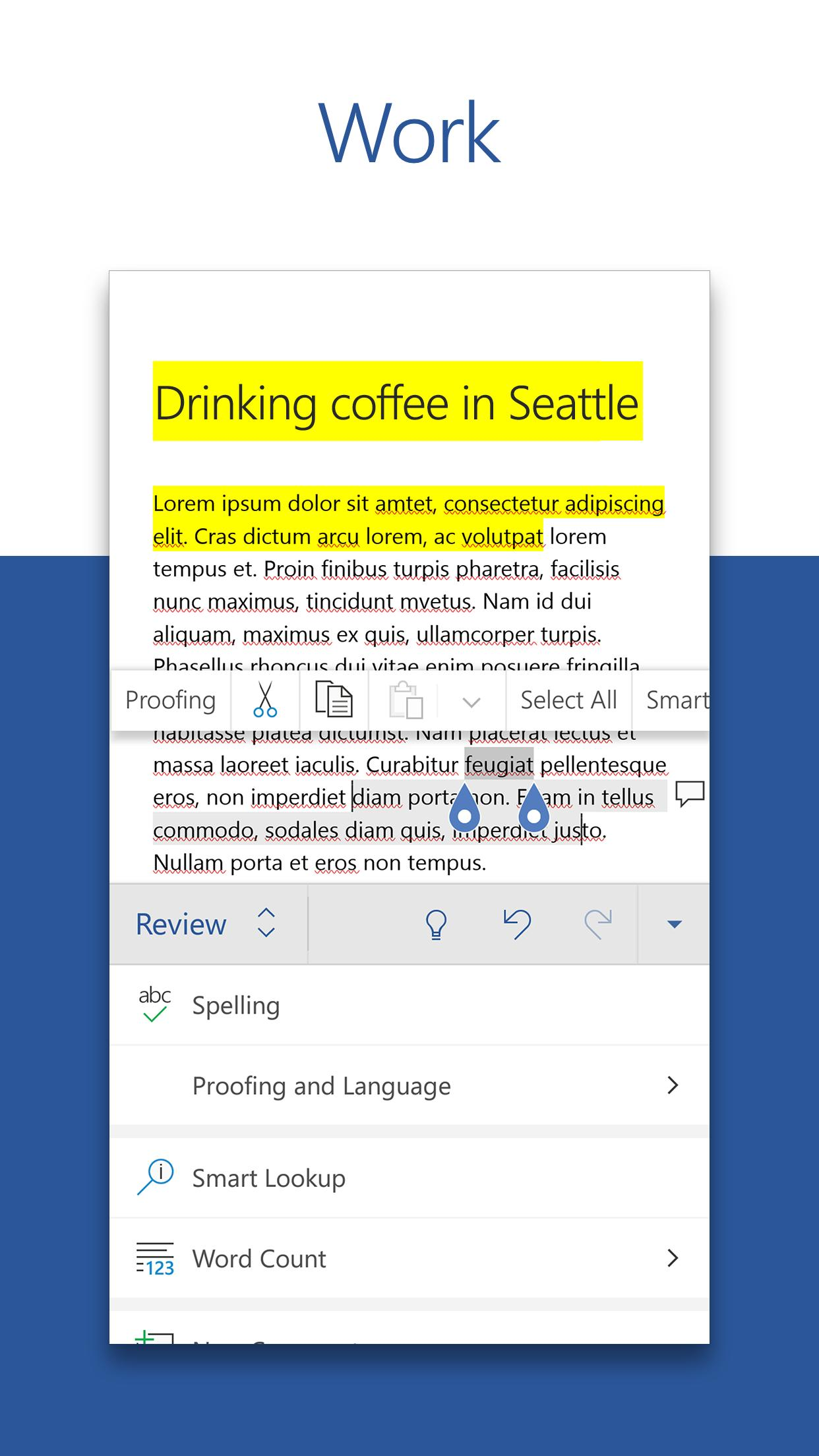 Microsoft Word: Write, Edit & Share Docs on the Go screenshot 2