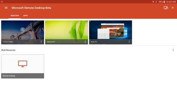 Microsoft Remote Desktop Beta 스크린샷 5