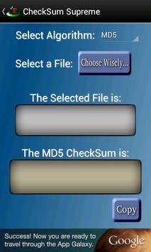 CheckSum Supreme screenshot 1