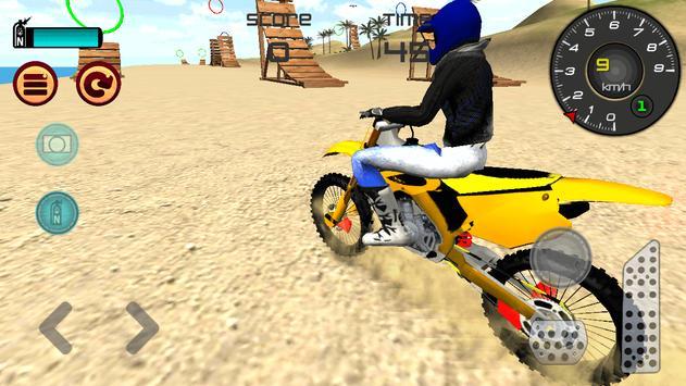 Motocross Beach Jumping poster