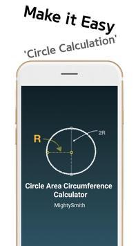 Circle Area Circumference Calculator poster