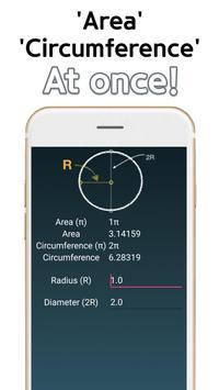 Circle Area Circumference Calculator screenshot 1