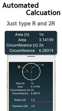 Circle Area Circumference Calculator screenshot 3