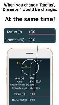Circle Area Circumference Calculator screenshot 4