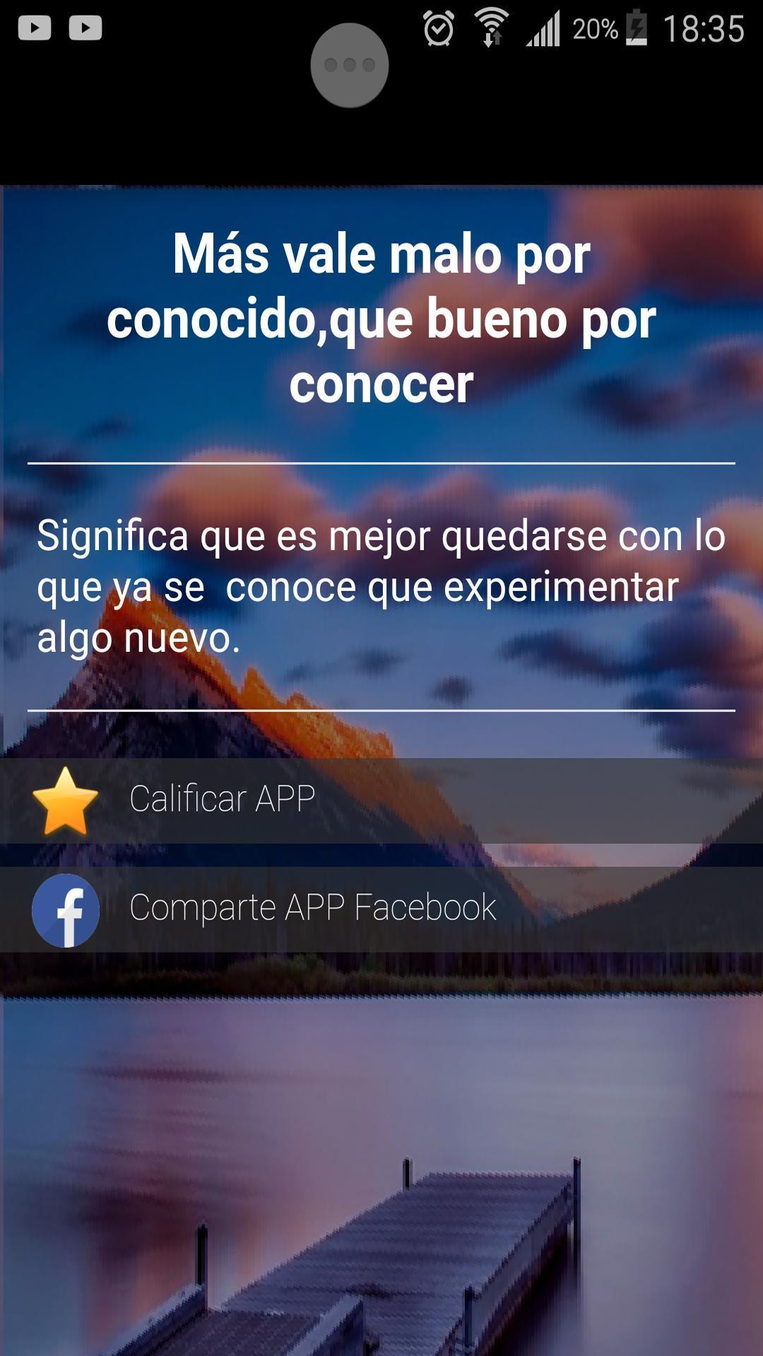 Refranes Populares Y Dichos Cortos Con Significado Pour Android Téléchargez L Apk