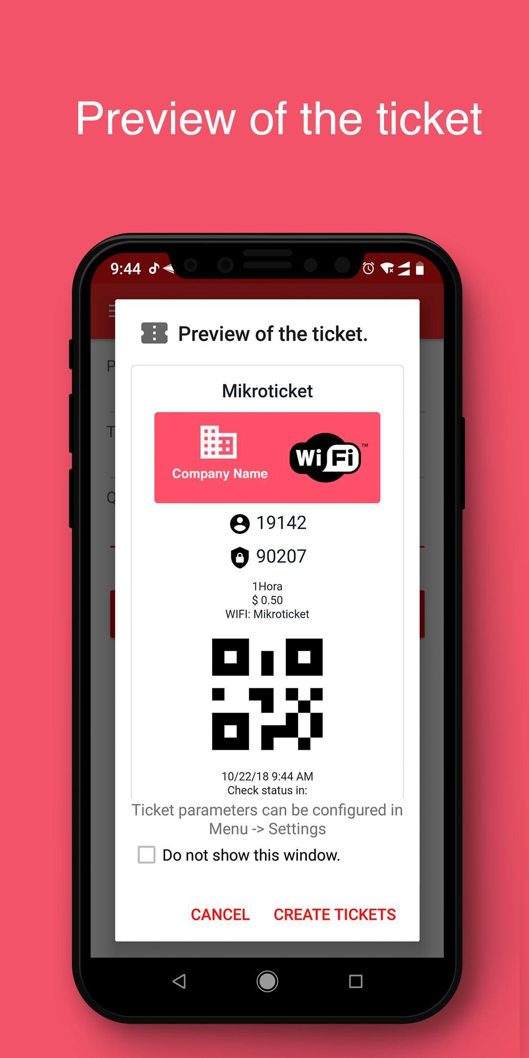 MikroTicket - sell your WiFi for time with tickets for