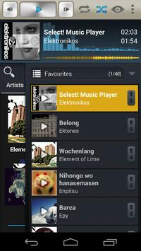 Select! Music Player Pro penulis hantaran