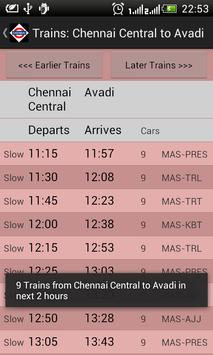Chennai Local Train Timetable capture d'écran 4