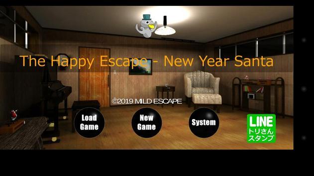 The Happy Escape - New Year Santa poster