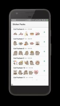 Pusheen Cat Stickers Full Packs - WAStickerApps screenshot 5