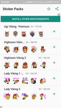 Viking Sticker Packs - WAStickerApps screenshot 5