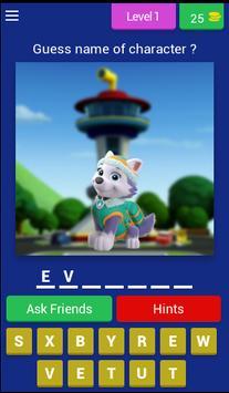 Puppy Patrol - kids quiz poster