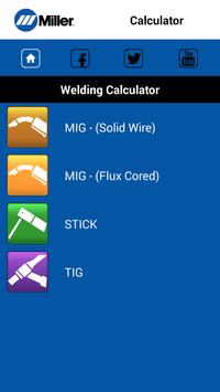 MillerWeld Setting Calculator poster