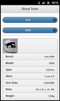 Helmets & Sharp Test Results screenshot 2