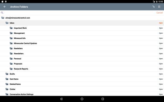Mimecast screenshot 6