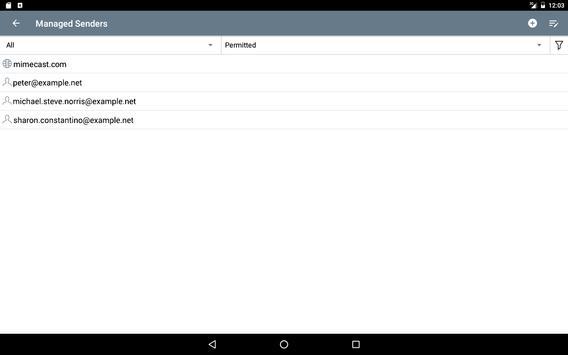 Mimecast screenshot 9