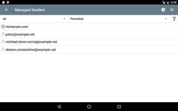 Mimecast screenshot 14