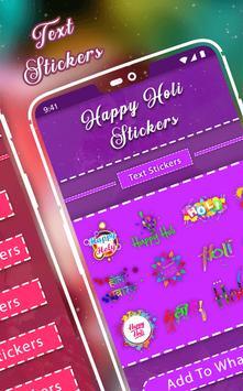 Happy Holi Sticker - WAStickerApps screenshot 1