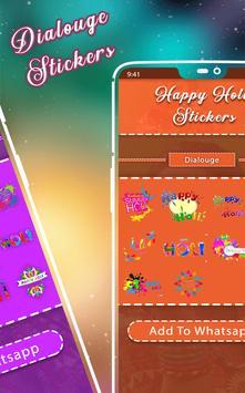Happy Holi Sticker - WAStickerApps screenshot 2