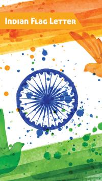 Indian Flag letter Sticker- WAStickerApps poster