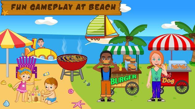 Pretend Play Beach Life: Fun Town picnic Games screenshot 4