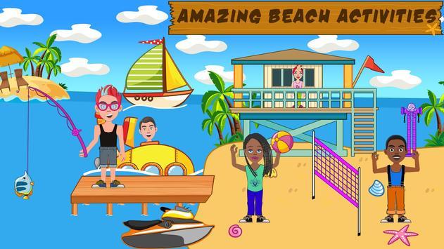 Pretend Play Beach Life: Fun Town picnic Games poster