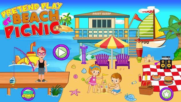 Pretend Play Beach Life: Fun Town picnic Games screenshot 14