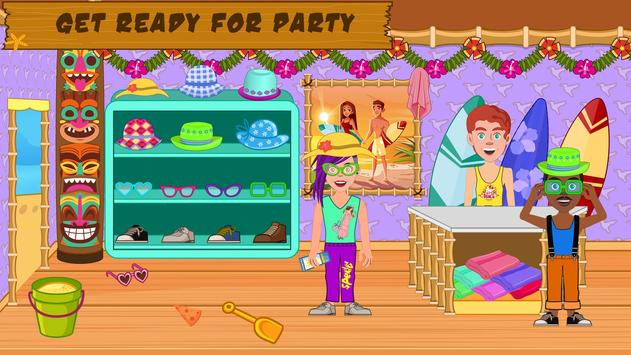 Pretend Play Beach Life: Fun Town picnic Games screenshot 3