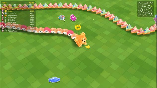 Sweet Crossing: Snake.io capture d'écran 2