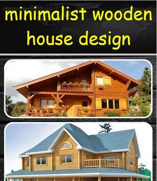 minimalist wooden house design poster