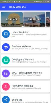 Daily Walkins - IT jobs for developers & freshers poster