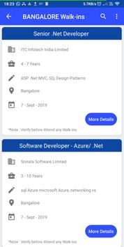 Daily Walkins - IT jobs for developers & freshers screenshot 2