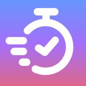 Хронометраж, учет времени, привычки цели, мой день-icoon