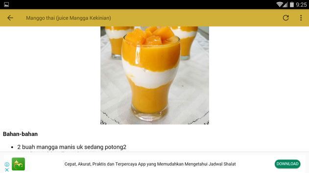 Resep Aneka Minuman Mangga screenshot 12